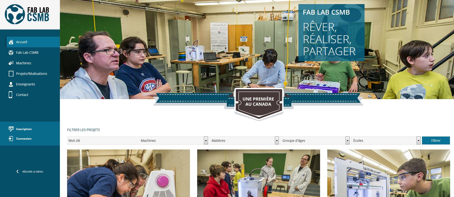 Site projet Fab lab